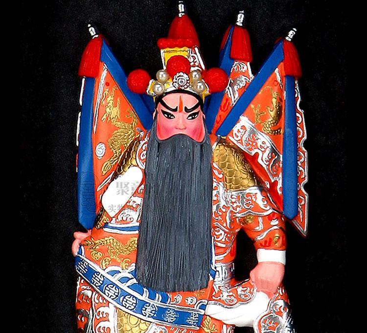 I tre personaggi - Huang Zhong opera figura decorazione della parete cornice pendente compleanno festival mostra souvenir