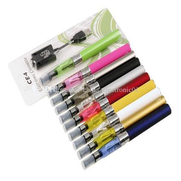 CE4 eGo blister Kit Electronic cigarette e cig kit 650mah 900mah 1100mah Ce4 Tank EGO-T battery blister Clearomizer Vape E-cigarette kit
