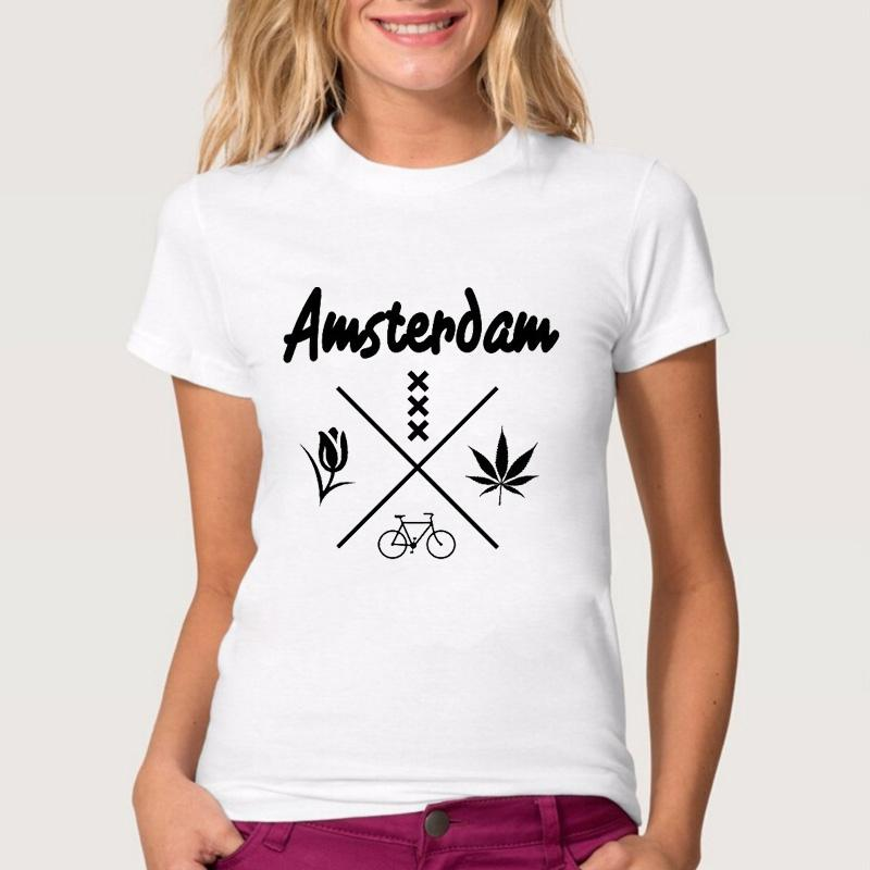 Women Lady Girl Fashion Amsterdam Letter Print Summer T Shirt Funny T Shirts  Short Sleeve Tee Shirt Tops Clothes Women S T Shirt T Shirt Shirt Designs T  ... 59bbbe735