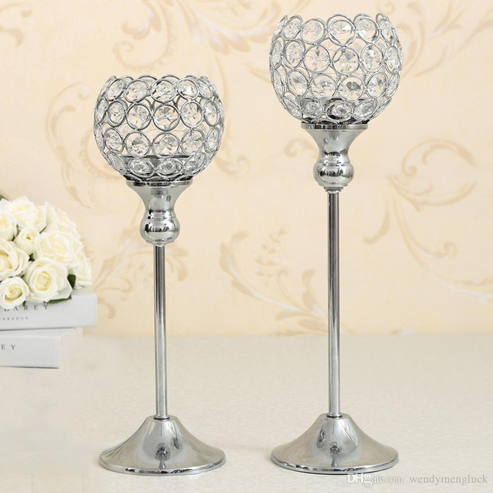 Crystal Candle Bowl Holders Wedding Party Supplies Dinning Room Table Candlesticks Centerpieces Birthday Holiday Home Decoration Gift Candles And
