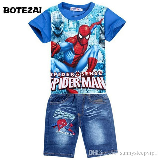 a620420585 2019 Retail Spiderman Kids Clothing Sets