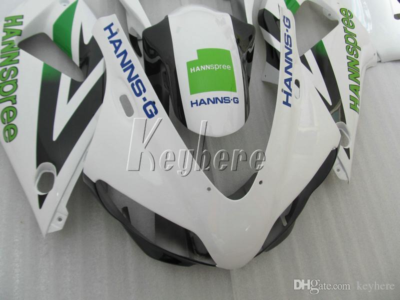ABS пластик обтекатель комплект для yamaha YZF R1 98 99 белый черный зеленый обтекатели комплект YZF R1 1998 1999 IY27