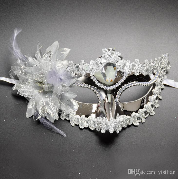 Хорошо A ++ Новая принцесса танец маска с заостренной металлизацией стороны в стороне заказа смешивания маски PH028 как ваши потребности