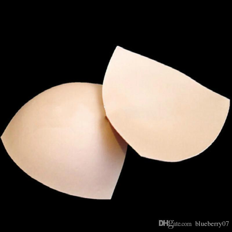 b083d62054 Triangle Cups Bikini Bra Pad Chest Push Up Insert  Foam Pads For Swimsuit  Padding Accessories Beige White UK 2019 From Blueberry07
