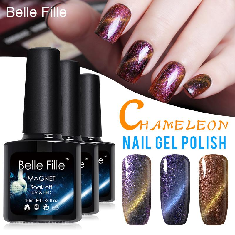 Wholesale Full Set 10ml Uv/Led Chameleon Cat Eye Magnetic Nail Gel ...