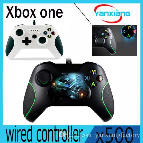 500 pcs usb controle do controlador com fio para microsoft xbox one controller gamepad para xbox one para o windows pc joystick yx-oen-03