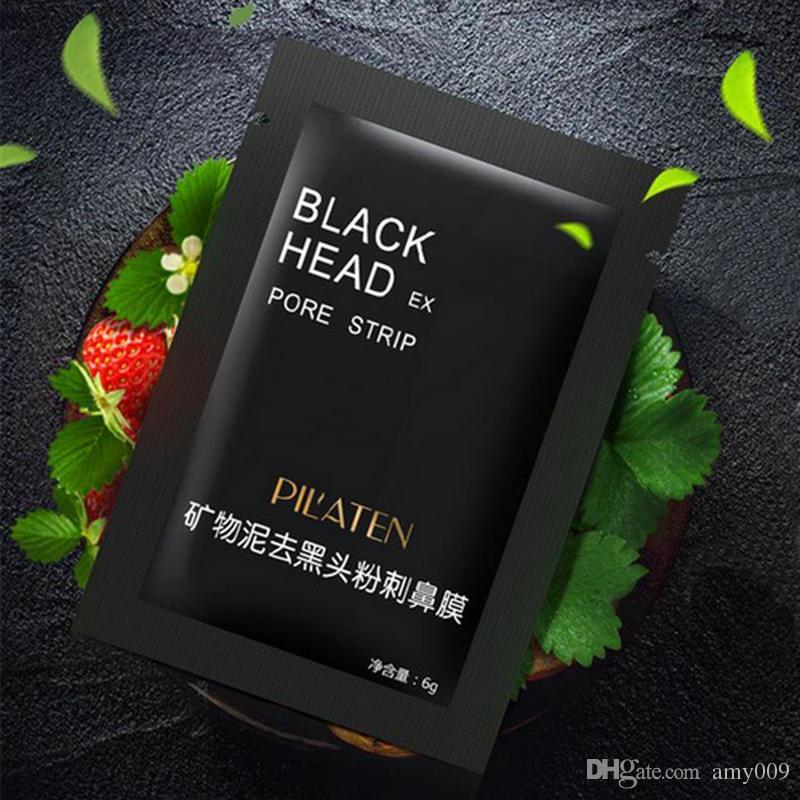wholesale PILATEN Facial Minerals Conk Nose Blackhead Remover Mask Facial Mask Nose Blackhead Cleaner 6g/pcsacial Mask Remove Black Head