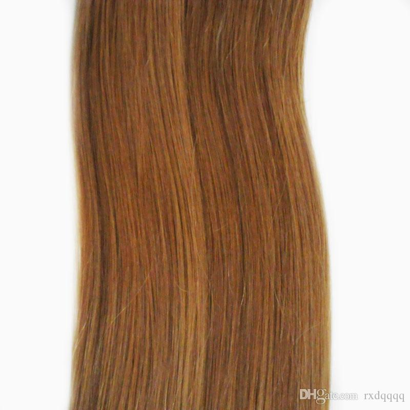 Brazilian virgin hair honey blonde Straight 100g Tape In Human Hair Extensions Adhesives Invisible PU Skin Weft hair extension tape