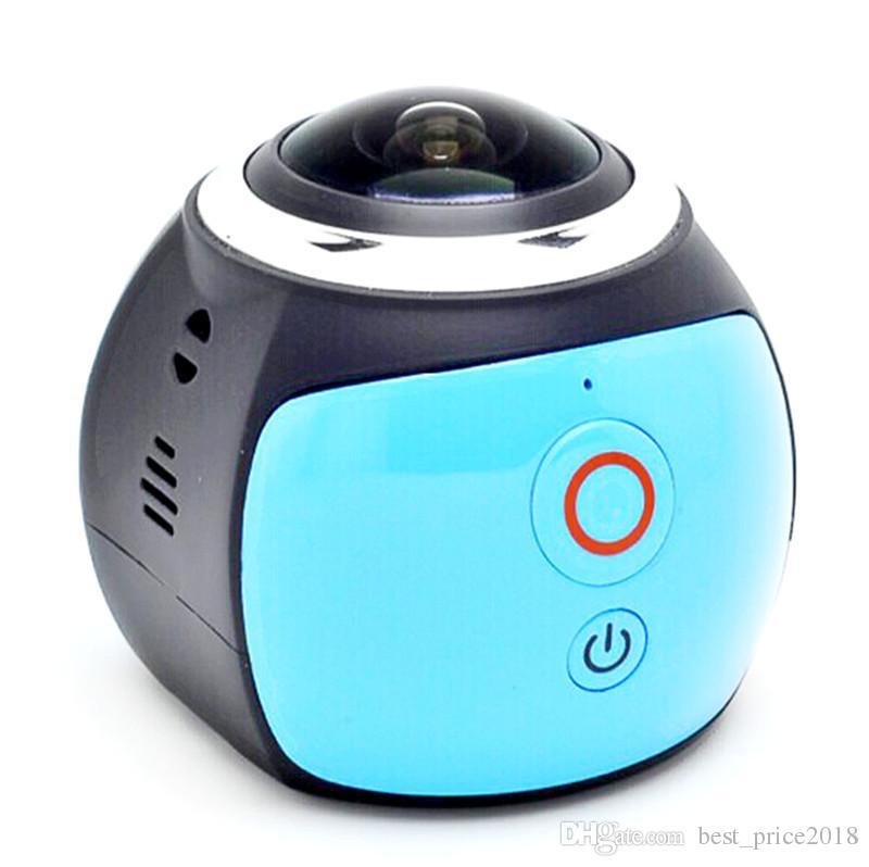 2017 Sıcak V1 360 derece panoramik spor kamera mini 3D wifi spor DV 4 K full HD 30 m su geçirmez açık eylem video kameralar Ücretsiz DHL