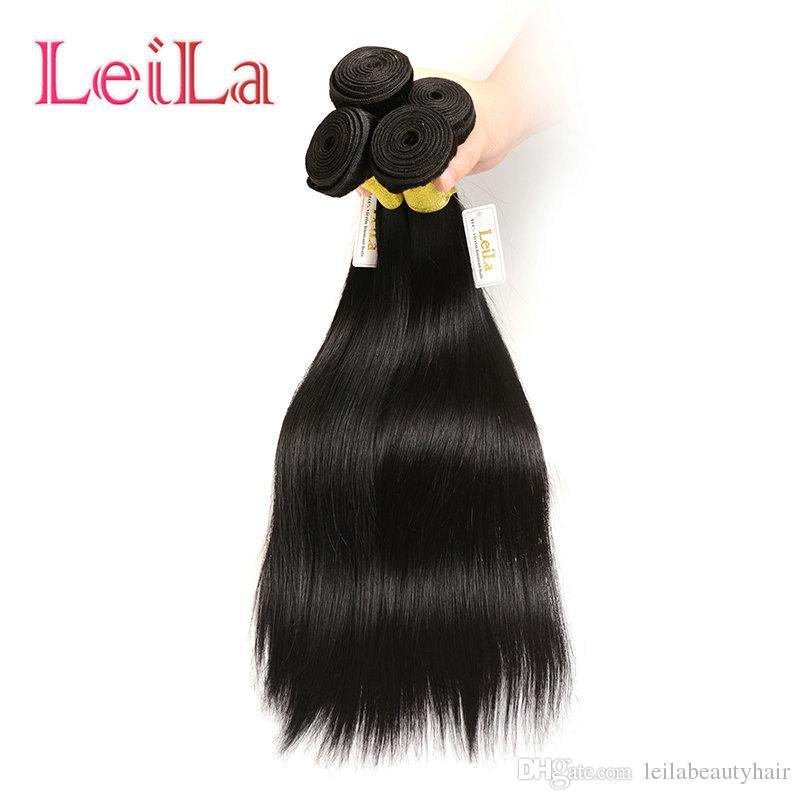 Extensiones de cabello indio Tronco 3 paquetes Sedoso recto pelo tejido paquetes 100% sin procesar trama de cabello humano One Set Virgin