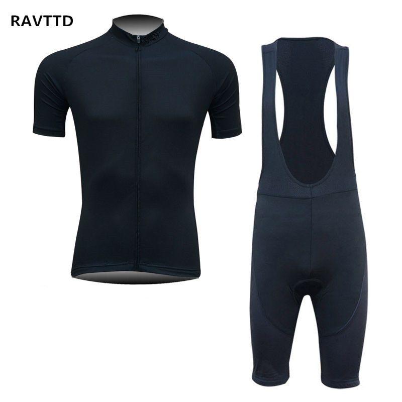 2017 Black Men Cycling Jersey Short Sleeves And Bib Shorts Sets Bike ... 65323c72e