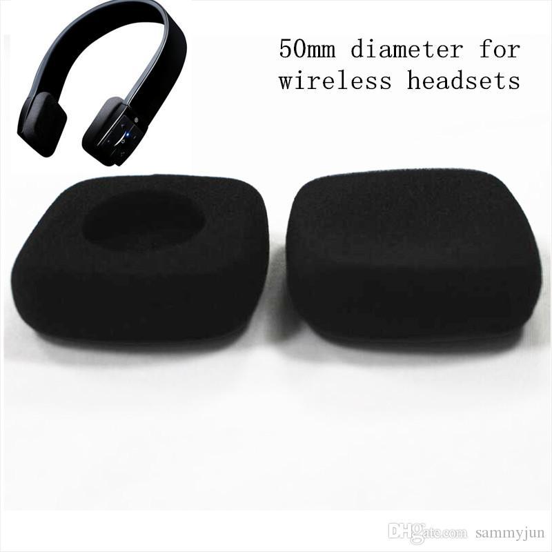 almohadillas de 50 mm de espuma oído almohadillas cojín auriculares esponja almohadillas cubren 5cm para auriculares inalámbricos Jaybird