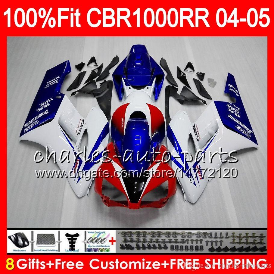 Injectie Lichaam voor Honda White Blue CBR 1000RR 04 05 Carrosserie CBR 1000 RR 79HM9 CBR1000RR 04 05 CBR1000 RR 2004 2005 Fairing Kit 100% Fit