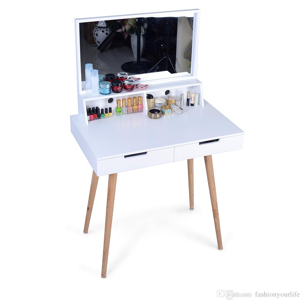 2018 Mirror Derssing Table Vanity Dressing Desk For Makeups And Accessory With 2 Drawers From Fashionyourlife 115 58 Dhgate Com