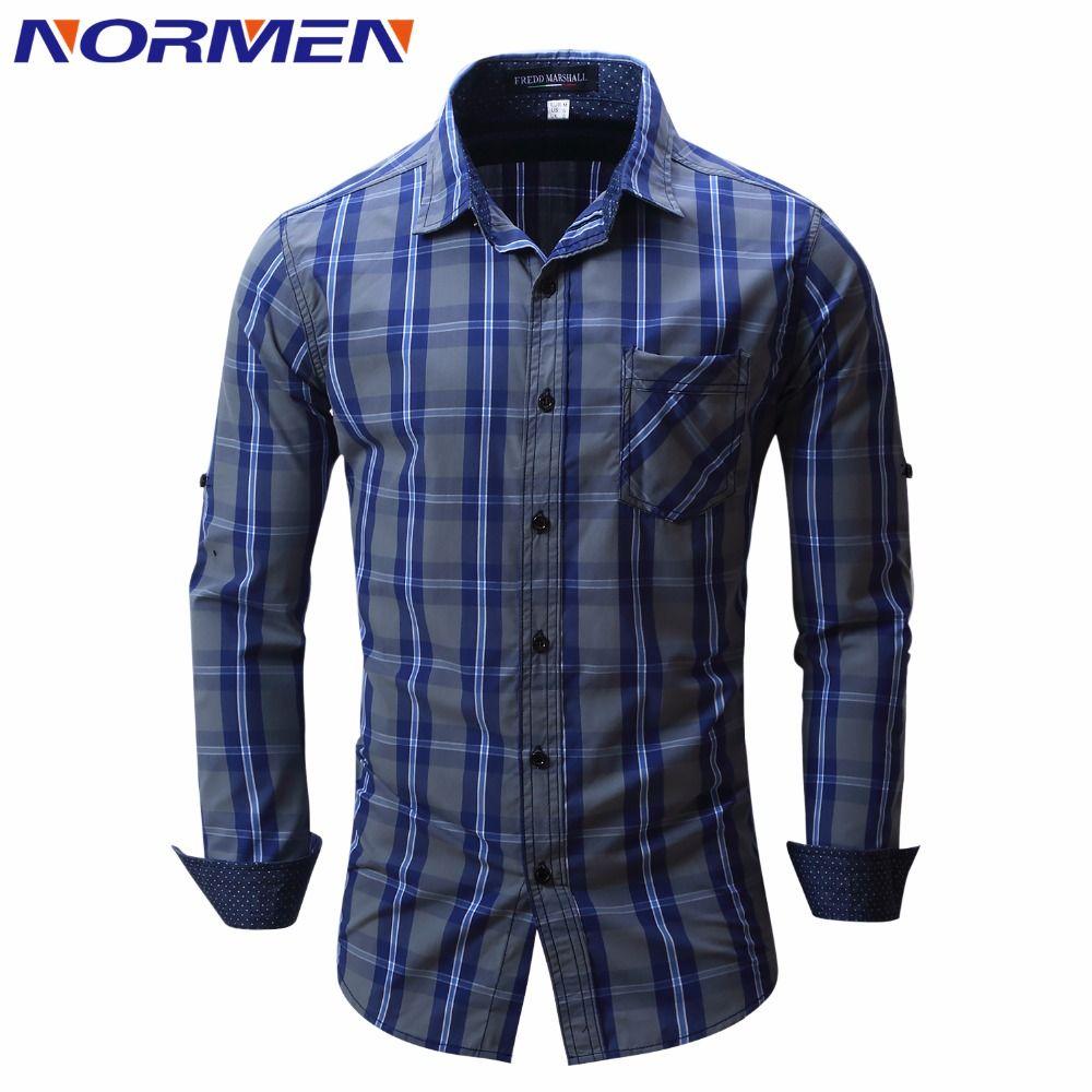Best wholesale normen brand clothing men 39 s fashion plaid for Best cheap mens dress shirts