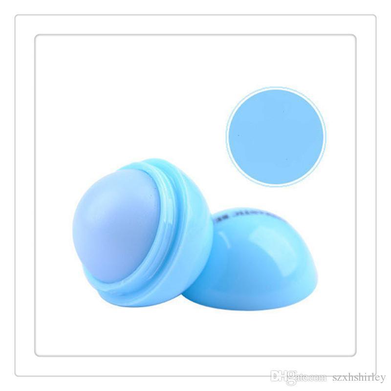 Commercio all'ingrosso balsamo le labbra 3d nuovo trucco palla rotonda rossetto idratante pianta naturale sfera frutta lip pomata gloss abbellire strumenti di cura del labbro