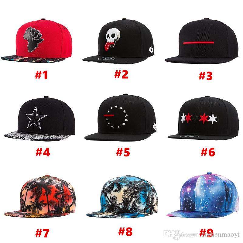 Embroidery   3D Printing Fashion Hip Hop Caps Sports Hats Baseball Caps  Women Men Baseball Hats Fitted Snap Backs Caps 9 Styles Baseball Caps For  Men Mesh ... 8947b58d0a21