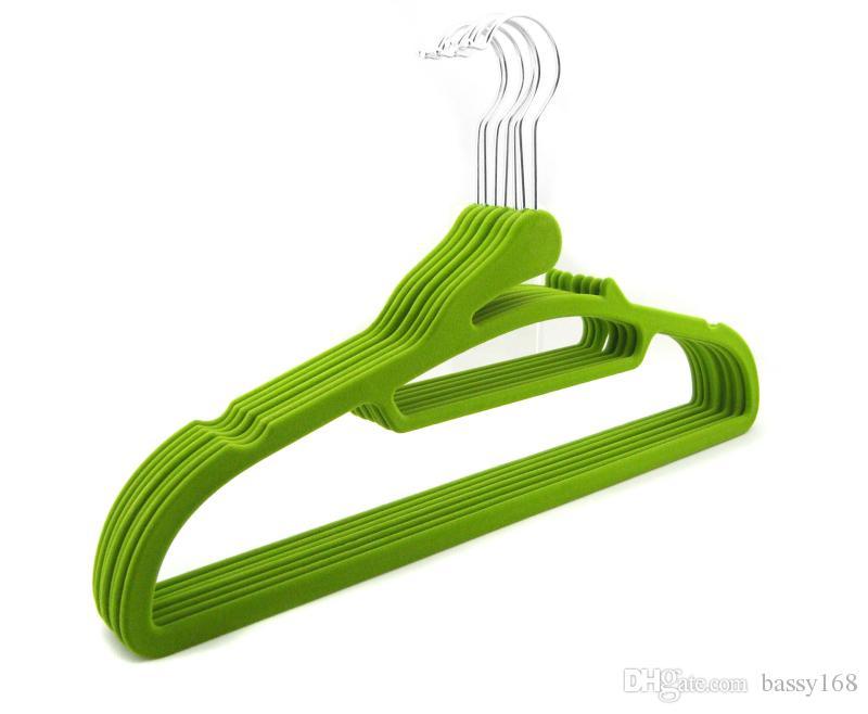 42cm Closet Velvet Hangers Functional Non-slip Thin Magic Flocking Space Save Storage Racks for Women Men