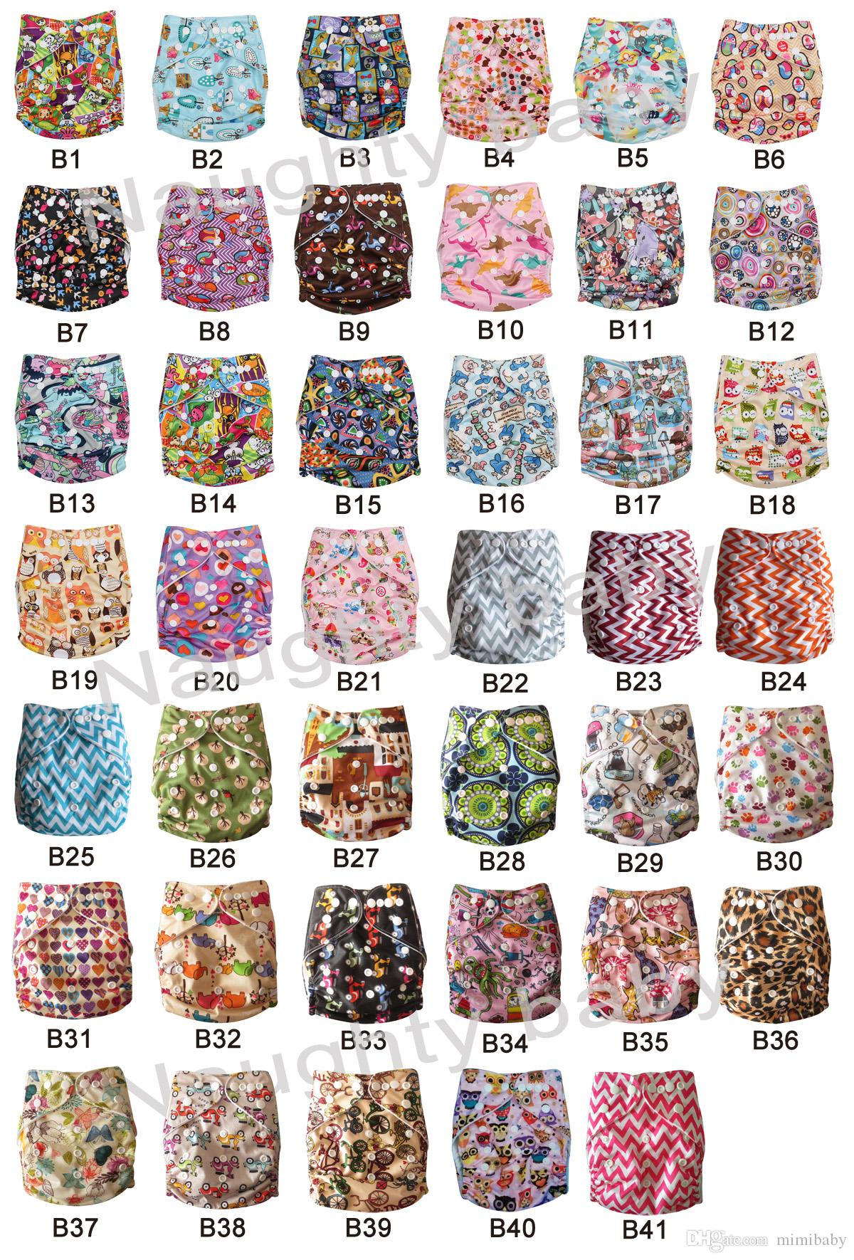 Reusable Baby Soft Cloth Diaper Nappy +Nappies Pads Toddler Training Pants cotton Diapers Washable Waterproof Fresh Color