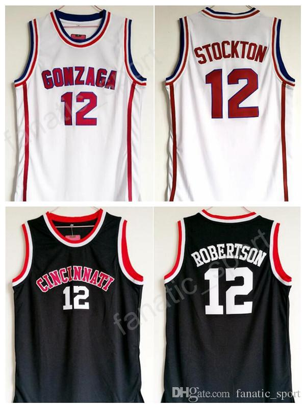 0dff19040 ... 2017 Gonzaga Bulldogs 12 John Stockton Jersey Men White College  Basketball Cincinnati Bearcats 12 Oscar Robertson ...