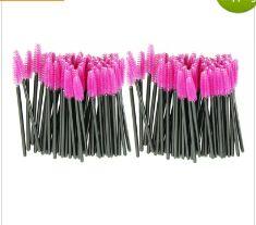 Hot Attractive make up brush Pink synthetic fiber One-Off Disposable Eyelash Brush Mascara Applicator Wand Brush JE24 free shippi
