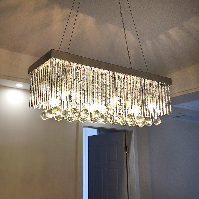 Modern Led Crystal Chandelier Ceiling Chrome Feature For Metal Living Room Bedroom Dining Hanging Lamp Lighting Unusual Pendant Lights Low