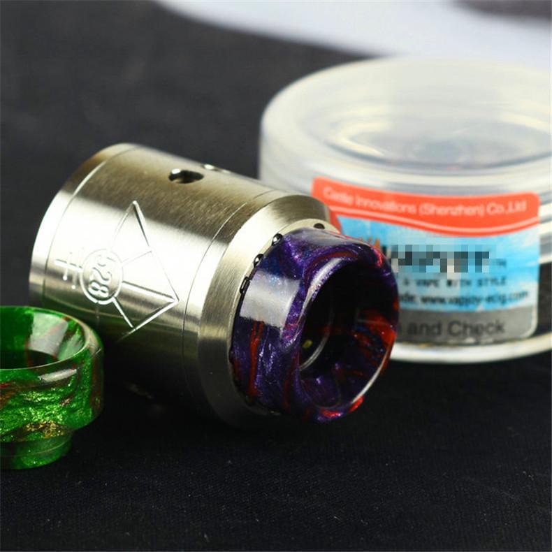 Puntali a goccia in resina epossidica più votati Tappi a boccaglio a foro largo Goon 528 LP RDA Serbatoio atomizzatore DHL Free