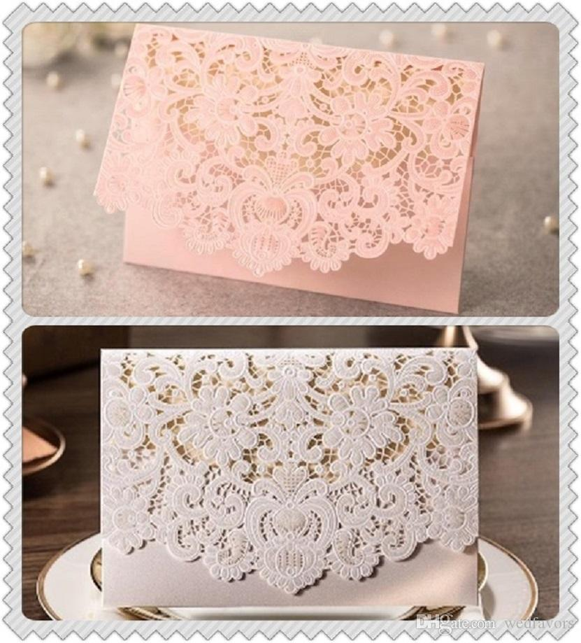 Wholesale Red And White Wedding Invitation Card Folding Korean