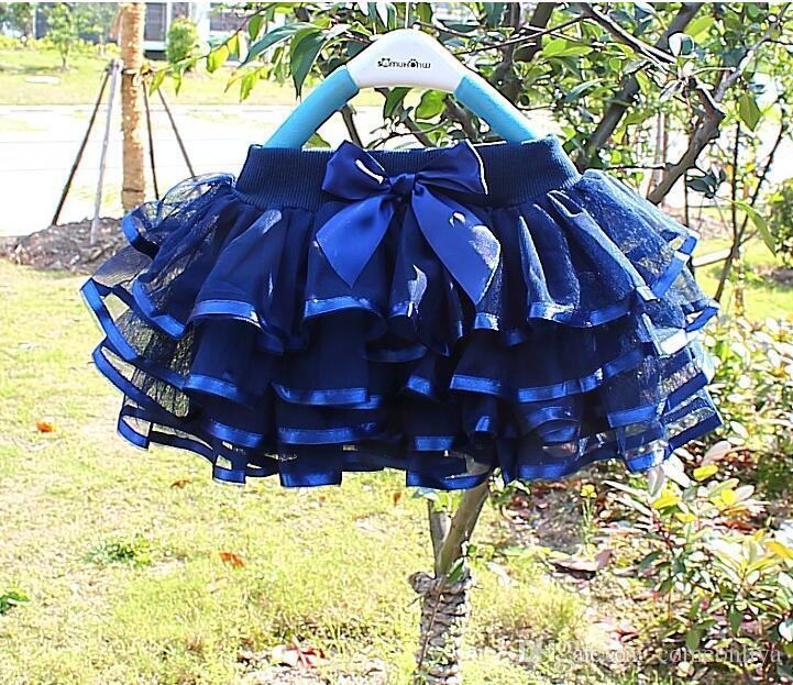 2018 new Korean style 150cm tall kids 3-8T bubble skirt performace dance dress gauze veil girls' short skirt