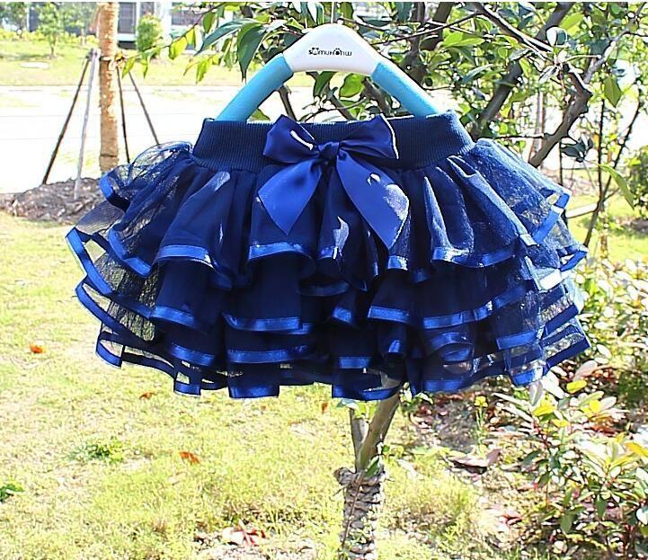 2018 nuevo estilo coreano 150 cm de altura niños 3-8 T falda de burbuja performace vestido de baile gasa velo niñas 'falda corta