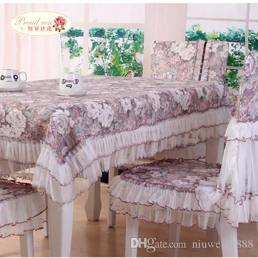 Pastoral Lace Table Cloth Chair Cover/ European Tablecloth With Rose  Pattern/ Tablecloth Tea Table Cloth Table Linens For Weddings Wedding Table  Cloth From ...