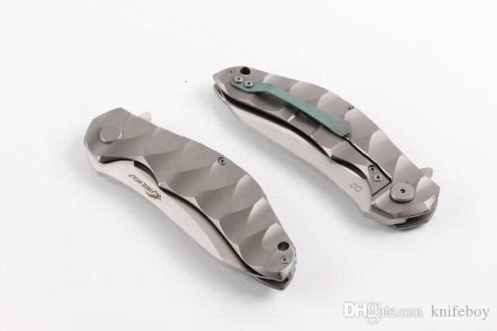 Специальное предложение Free Wolf Выживание Прямой нож D2 Зеркало польский лезвия Micata ручки на открытом воздухе Отдых на природе Охота EDC Карманные ножи