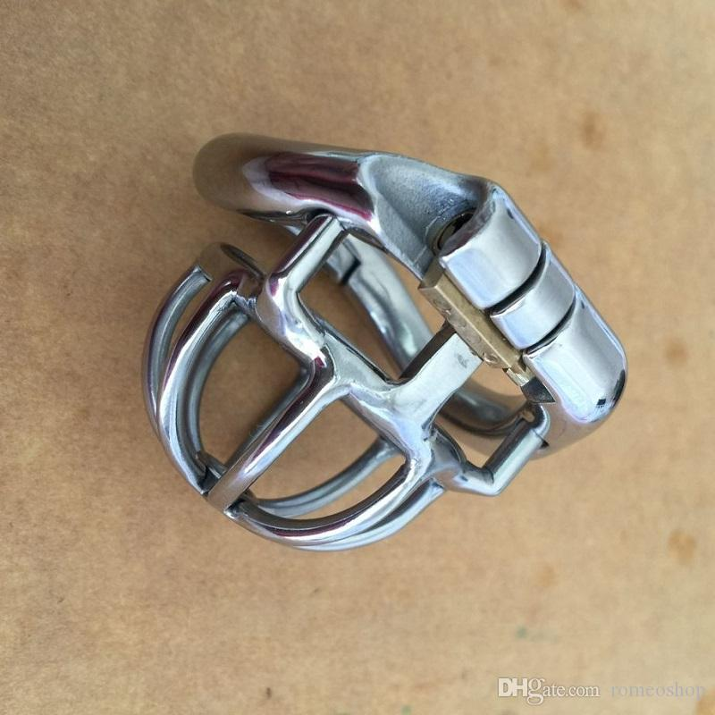 """Factory Male Chastity Device Full Length 42mm,Cage 25mm Stainless Steel Super Small 1"""" Short Cock Cage For Men Arc Base Ring"""