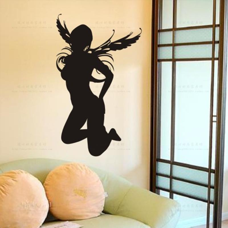 Sexy Girl Beauty Body Pub Bar Angel Wall Stickers, Woman Naked Girl Wall  Decal Ktv Pub Bar Shop Sticker Cheap Wall Decor Stickers Cheap Wall Murals  And ... Part 68
