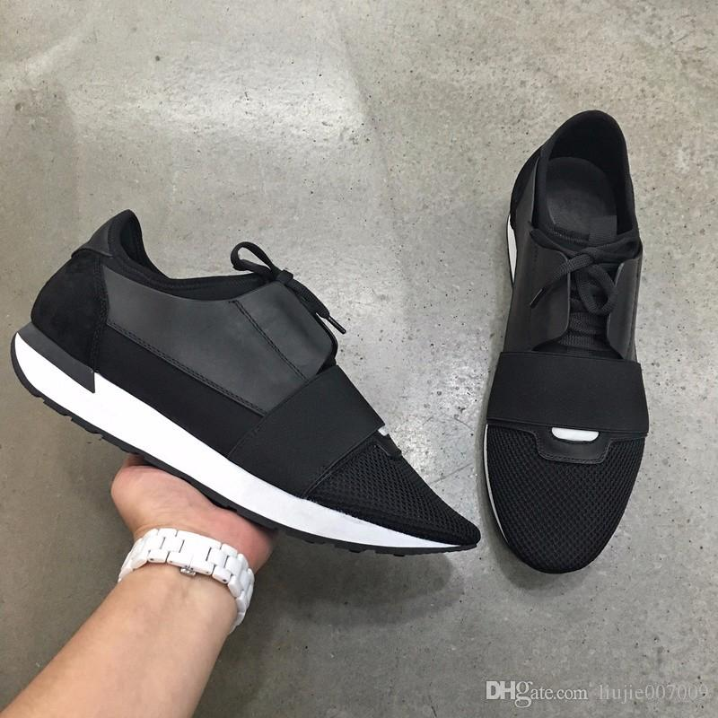 2020 Drop Shipping chaussure femme neue Entwerfer-beiläufige Schuh-Mann-Frauen-Rennen Runner Sneaker Schnürschuhe Leder Mesh-Trainer-Turnschuh-Schuhe