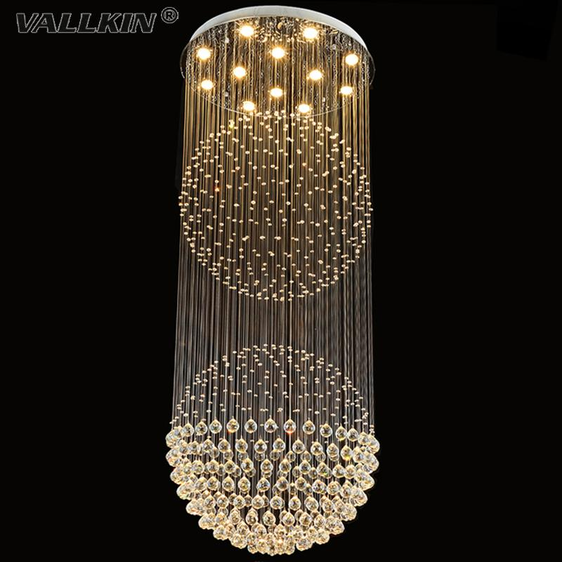 Vallkin crystal chandeliers penthouse villa living room lighting fixtures duplex rotation ceiling pendant light with d80cm pendant light with d80cm crystal chandeliers modern chandelier china bedroom ceiling light online with 65209piece on delightleds sto Images