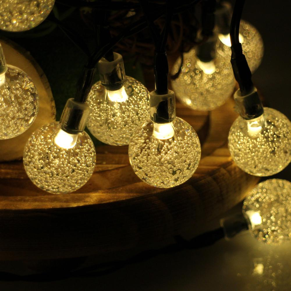 Wholesale 30LED 6M Waterproof Decorative Crystal Ball LED String Lights Outdoor Garden Patio