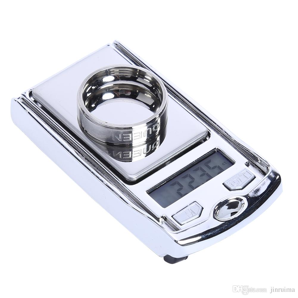 Mini LCD Precision Electronic Scale for Gold Bijoux Sterling Silver Digital Diamond Jewelry Scale 100g/200gx0.01g 65 * 45* 14m