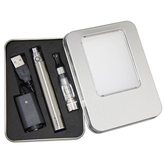 eGo CE4 Starter Kit CE4 Aluminum Case Single Kit Rectangle gift box package for all ego series electronic cigarettes kit