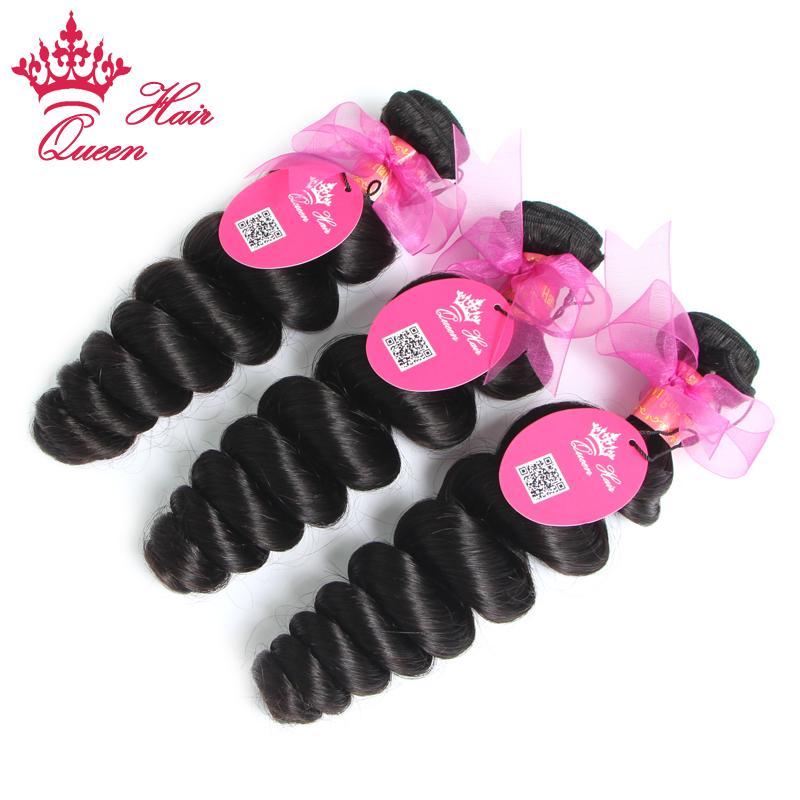 Queen Hair Mixed Length 5 unids / lote extensiones de cabello brasileñas vírgenes sueltas ola más tejidos máquina trama envío libre 8 '' - 28