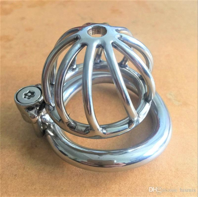 2017 Unique Design New Lock Design 45mm Cage Length Stainless Steel Super Small Male Chastity Devices Cock Cage For Men