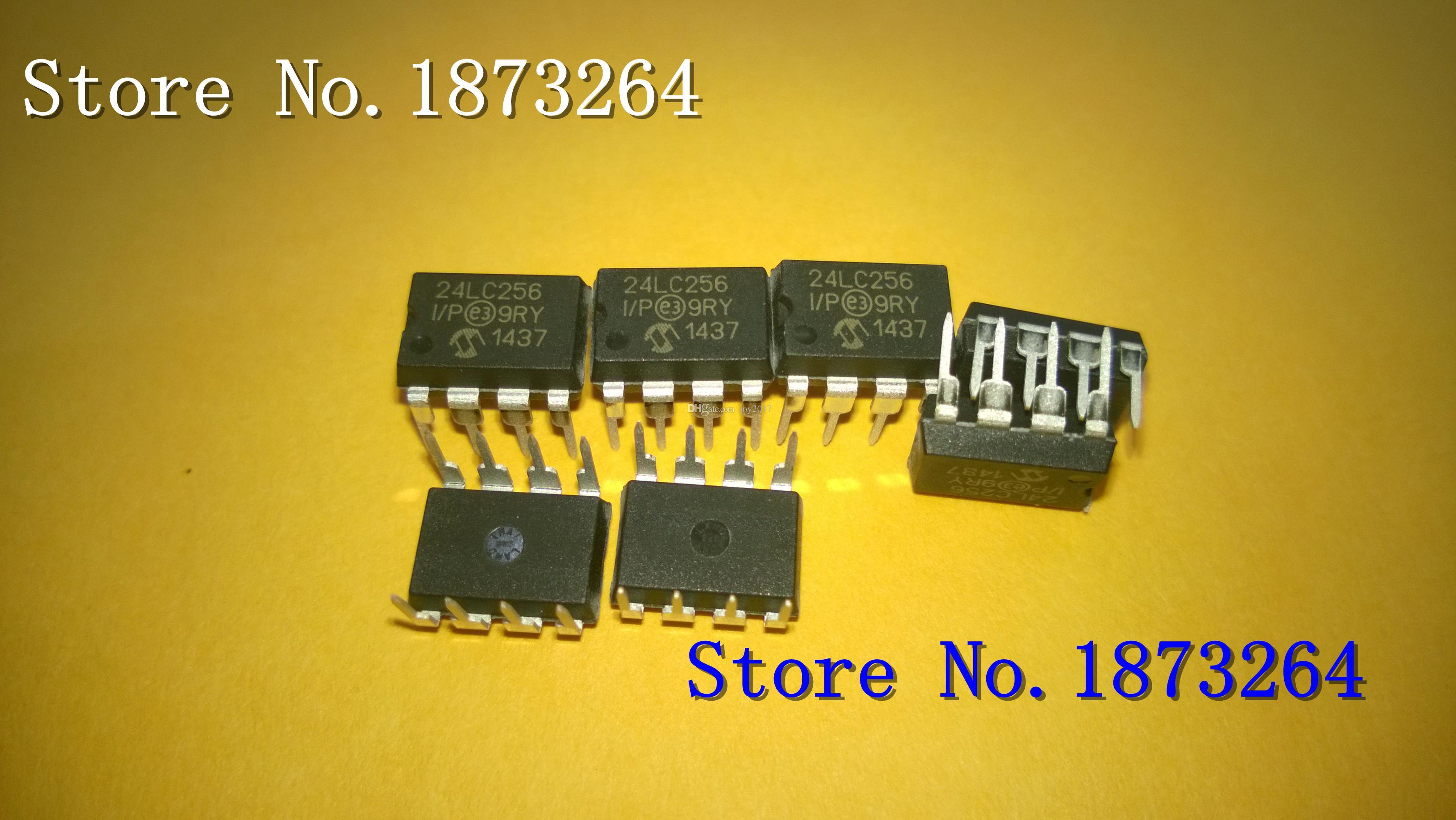 Free shipping 24LC256-I/P 24LC256 24LC256IP DIP-8 64K I2C Serial EEPROM  10pcs/LOT