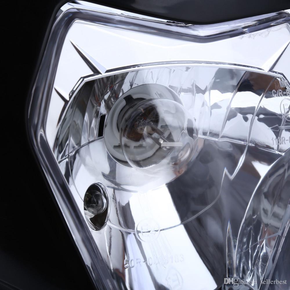 Indicador do farol da halogéneo da motocicleta que carimba o abajur para o motor da bicicleta da sujeira O farol grande aprecia competir com a escuridão