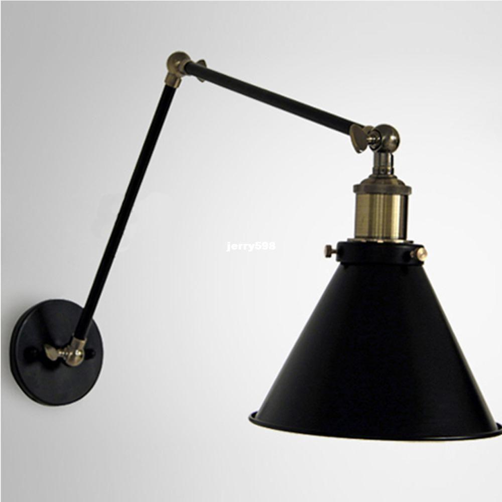 2017 vintage industrial loft art deco adjustable wall lamp iron