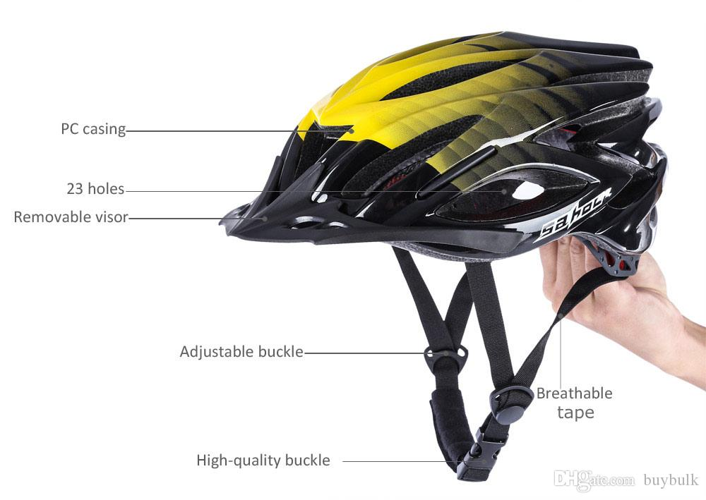SAHOO 53 - 60CM 23Holes Casco casco da bicicletta adulti casco di sicurezza adulti casco ultraleggero
