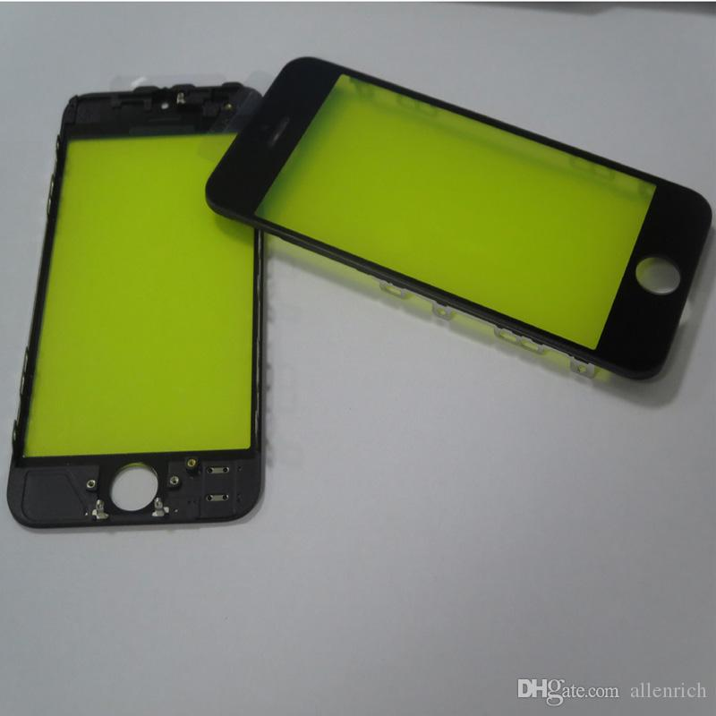 Front Glass Lens Bezel Frame Assembly cold press for iPhone 5G 5S 5C Outer Screen Touch Panel Repair Replacement