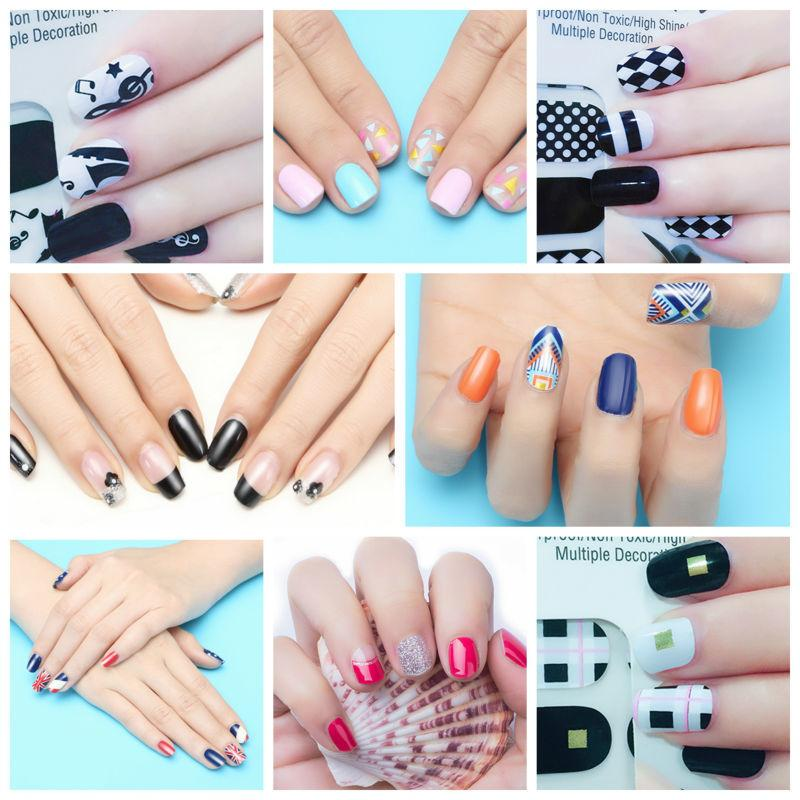 X.T Xt Nail Polish Strips Fashion Style Design Trend Waterproof Non Toxic  Nail Sticker 1 Sheet/Pretty Nails Acrylic Nail Designs From Jackgdu, $1.0|  Dhgate. - X.T Xt Nail Polish Strips Fashion Style Design Trend Waterproof Non