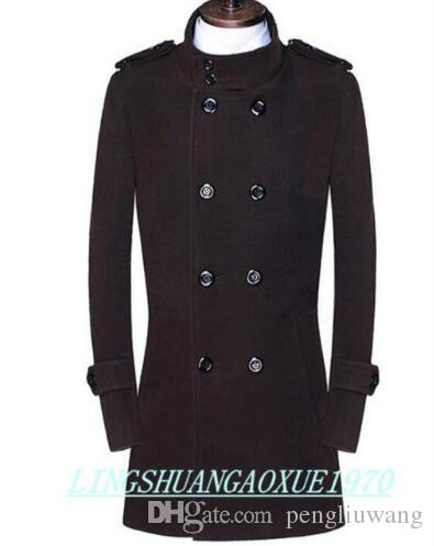 16ac4c8fb27 2019 Stand Collar Casual Woolen Coat Men Trench Coats Overcoat Mens  Cashmere Coat Casaco Masculino Inverno England Black Brown 9XL From  Pengliuwang