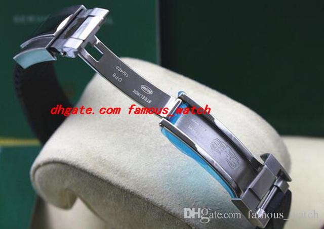 Relógio De Pulso De luxo 40mm Mostrador Preto 18kt Ouro Branco 116655 Nova Marca Na Caixa Automática Mecânica Homens Relógios de Qualidade Superior