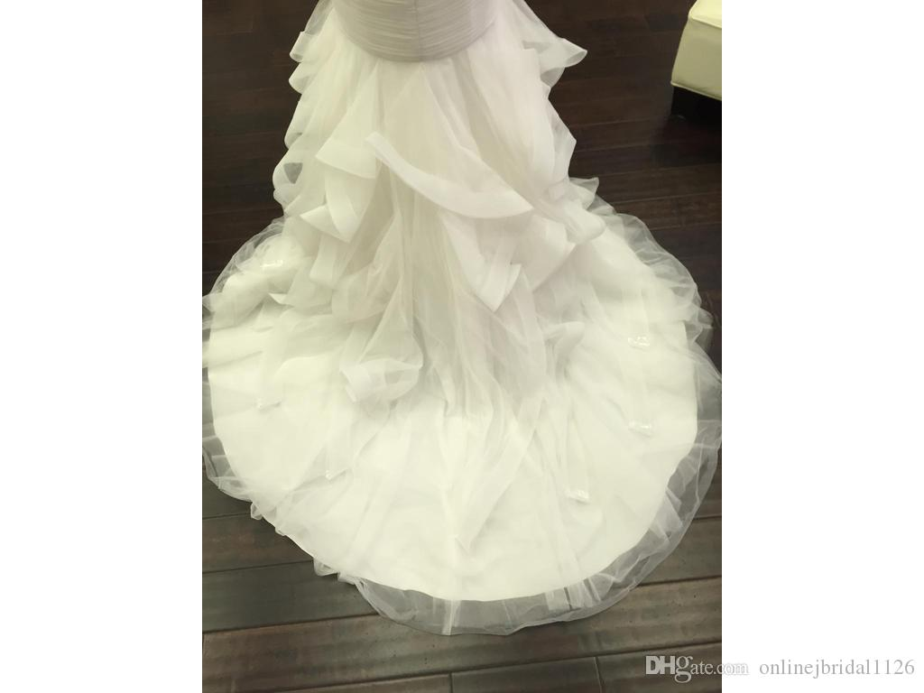 Custom Made Mermaid Sweetheart Dropped Waist Feathers Tulle Wedding Dresses Vestidos De Novia Bridal Gown COR-559 Casamento